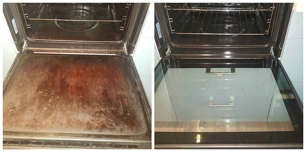 Oven Cleaning Before After